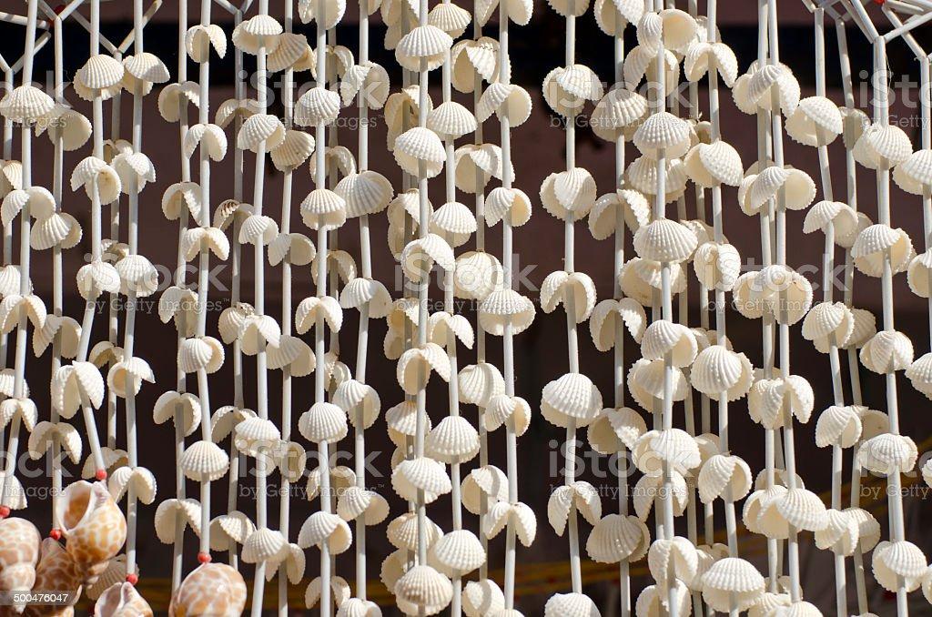 Seashell  souvenirs at market  Tamil Nadu, India stock photo