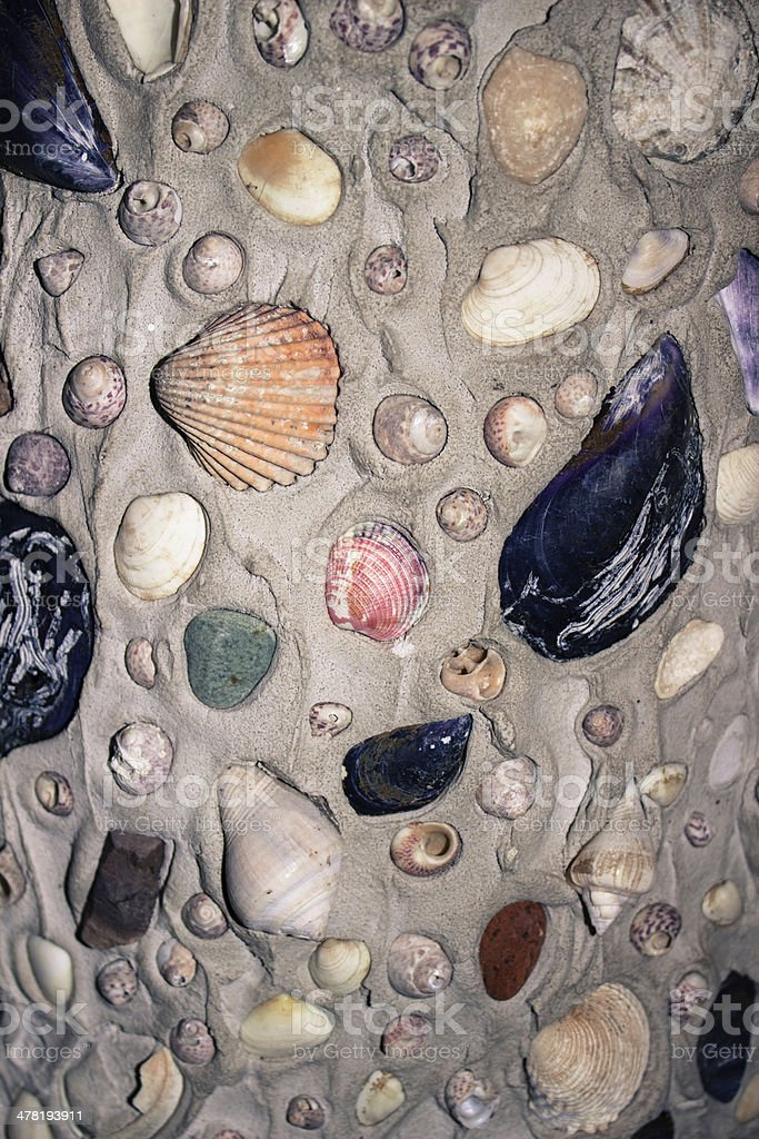 Seashells and mosaics stock photo