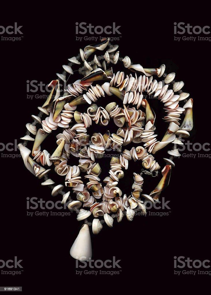 seashells collar foto de stock libre de derechos