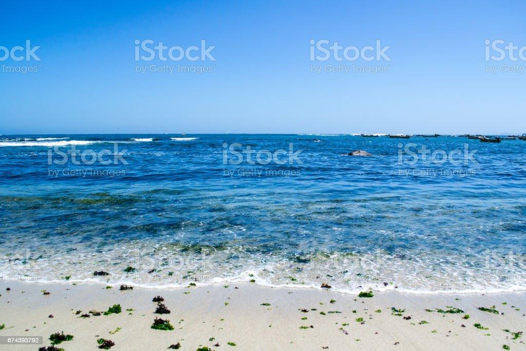Seashore at the beach stock photo