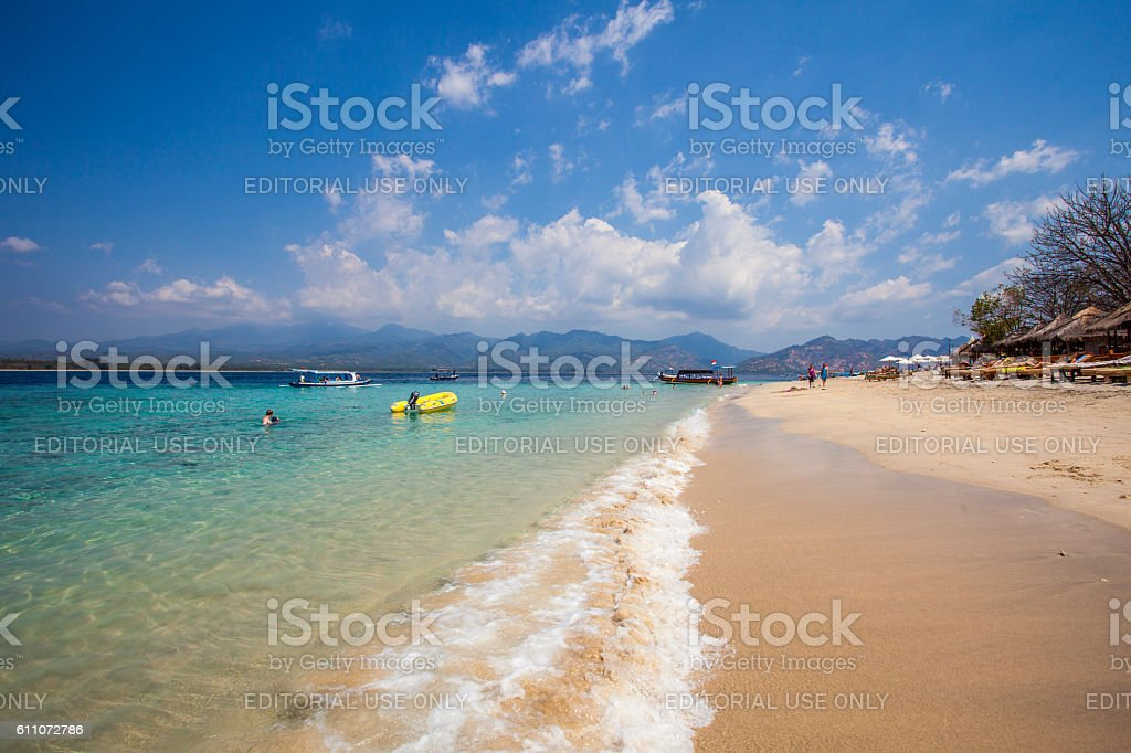 Seashore in the Gili Islands in Lombok, Indonesia stock photo