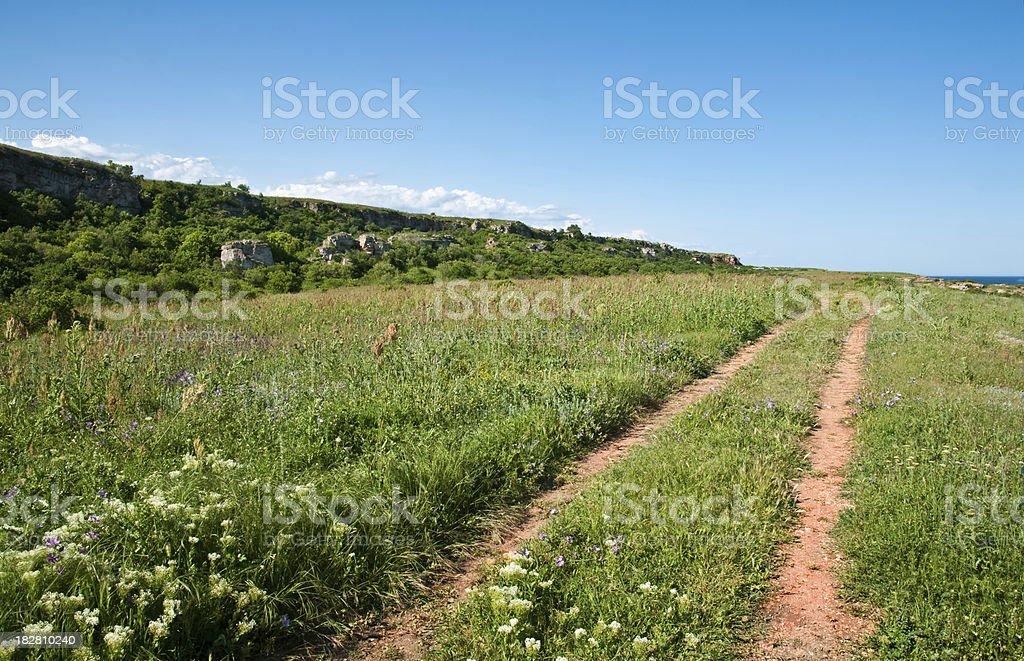 Seashore landscape stock photo