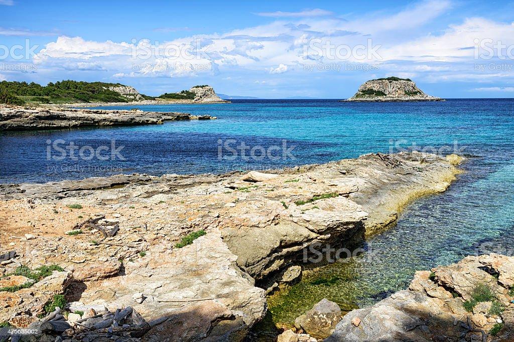 Seashore of Pianosa Island,  Italy stock photo