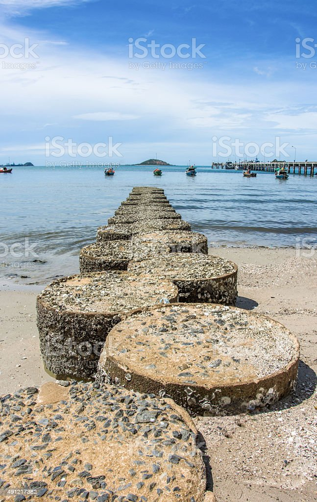 Küste Sealandscapes Barnacle Bluesky Bootssteg Lizenzfreies stock-foto