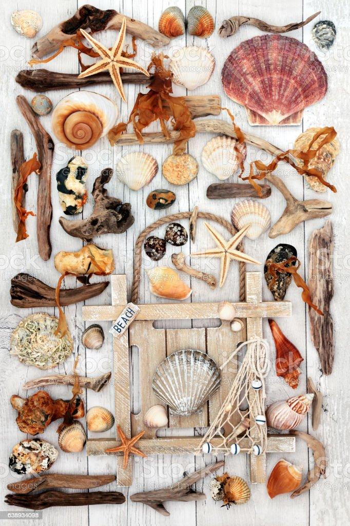 Seaside Abstract Art stock photo