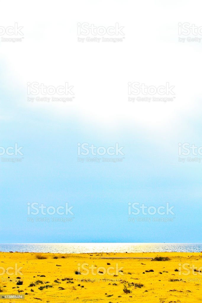 Seaside and the blue sky royalty-free stock photo
