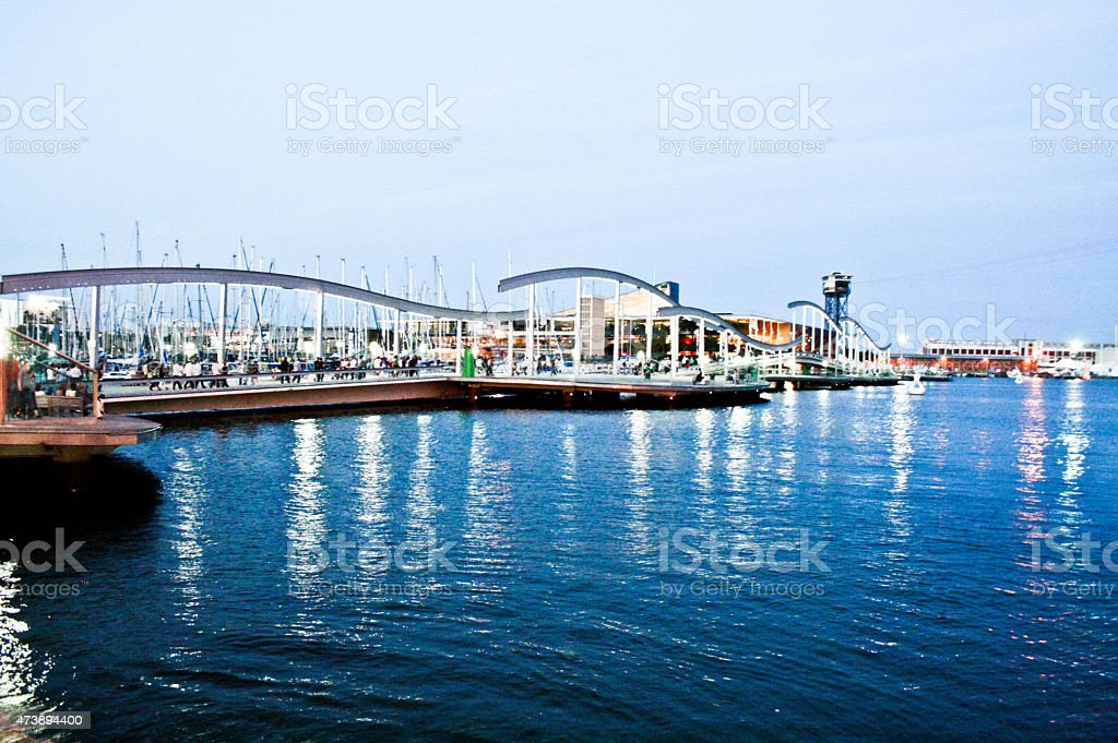 Seaside and the boats by the water royalty-free stock photo