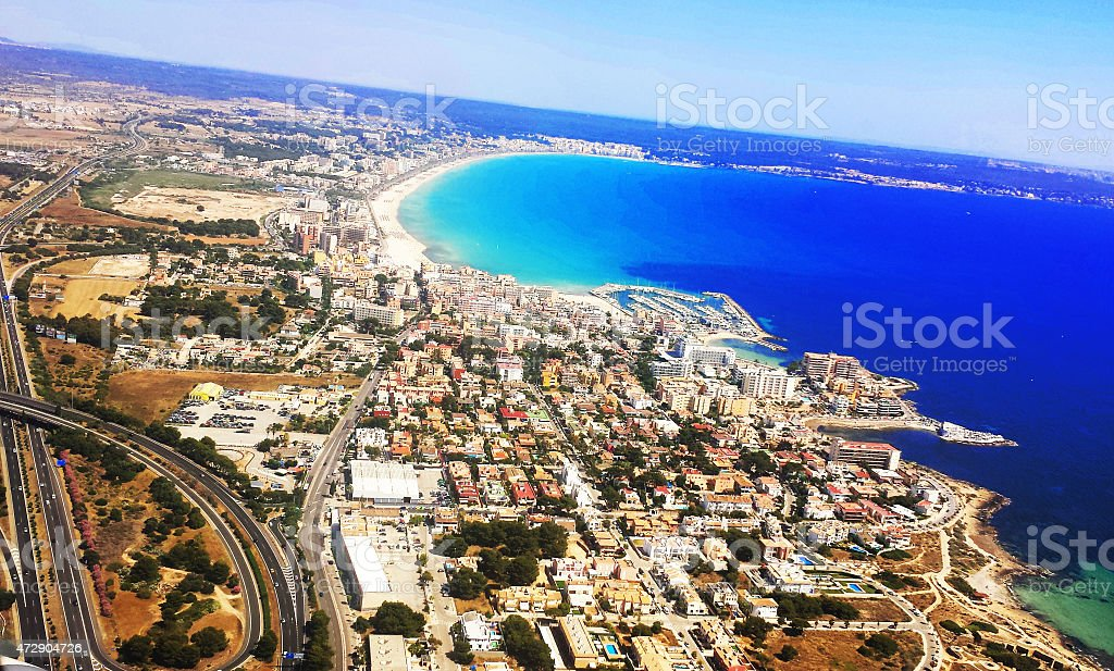 Seaside and the view from above royalty-free stock photo