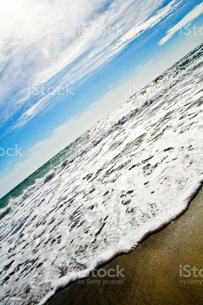 Seaside and the water royalty-free stock photo