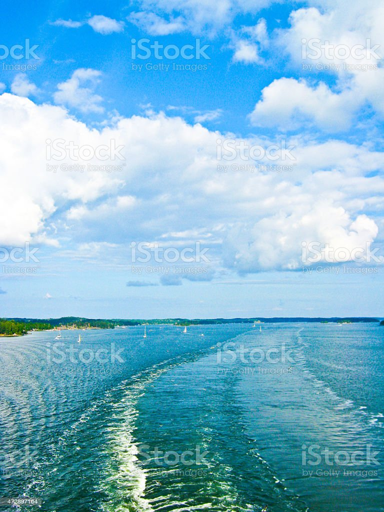 Seaside and the water under the sky royalty-free stock photo