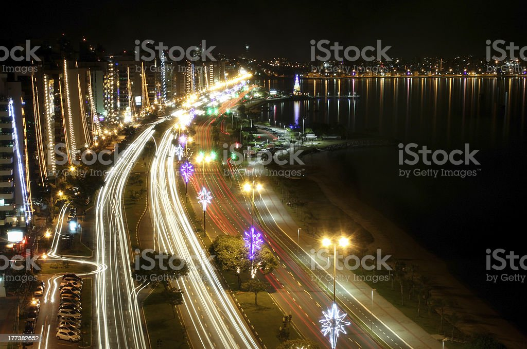 Beira Mar Avenue in Florianopolis stock photo