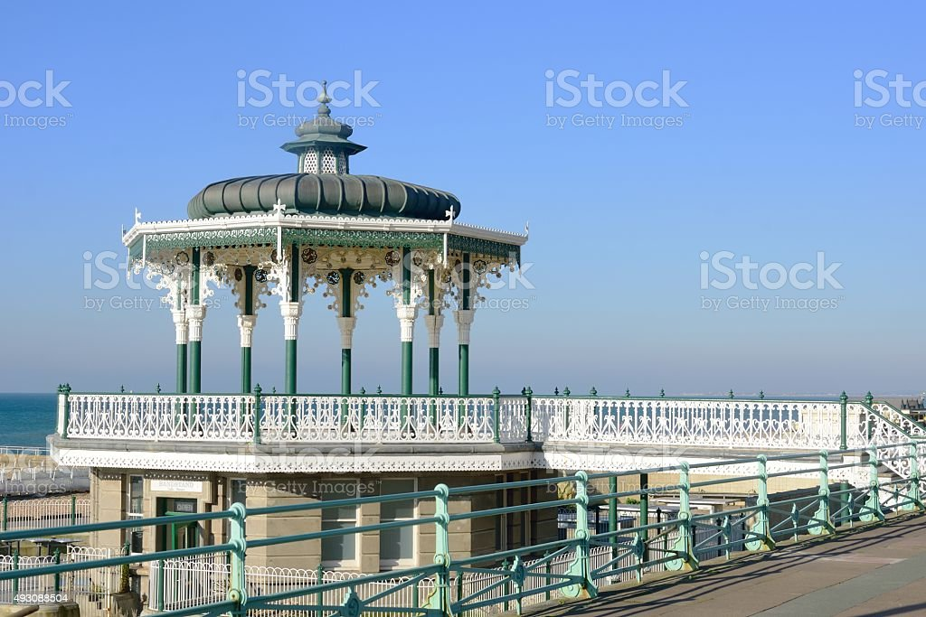 Seaside bandstand stock photo