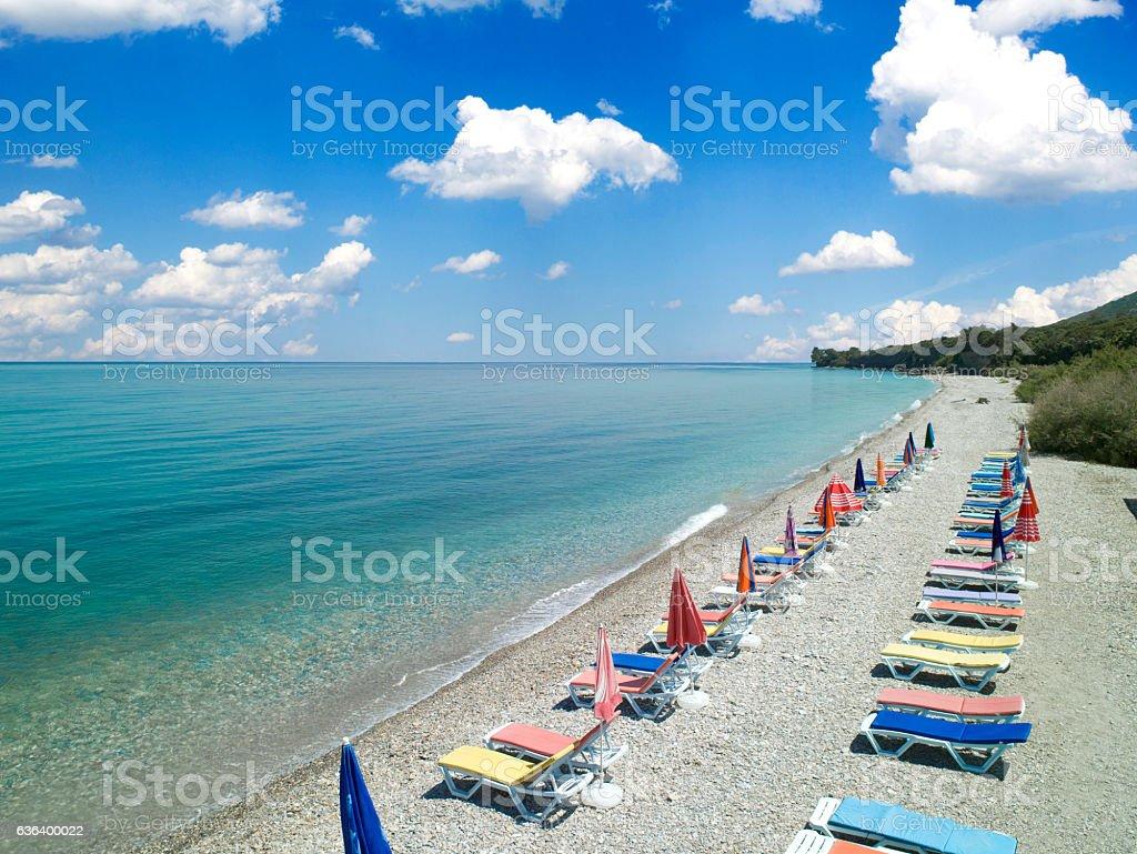 Seaside beach club stock photo