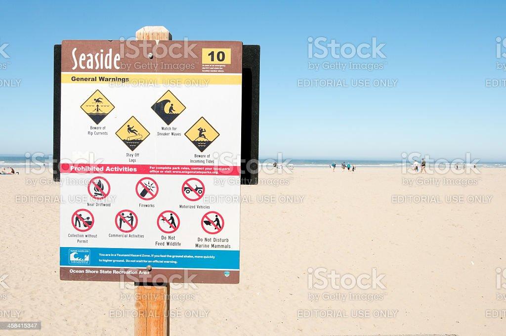 Seaside Beach Saftey stock photo