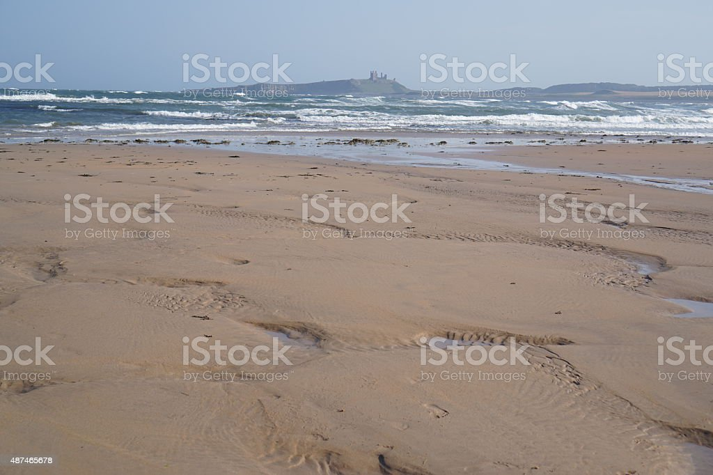 Seaside castle stock photo