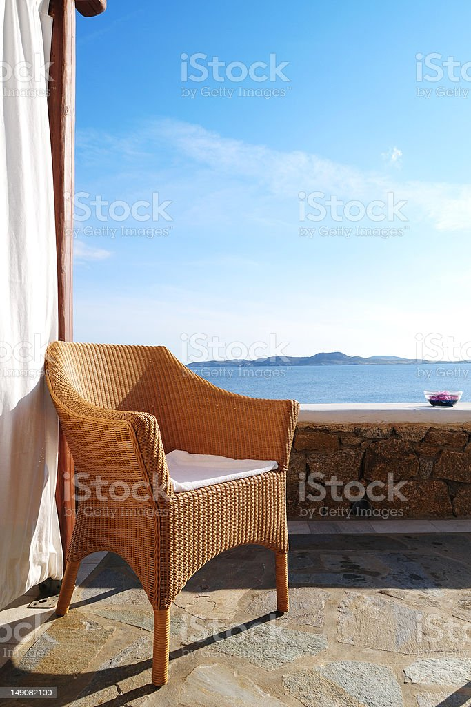 Seaside Chair royalty-free stock photo