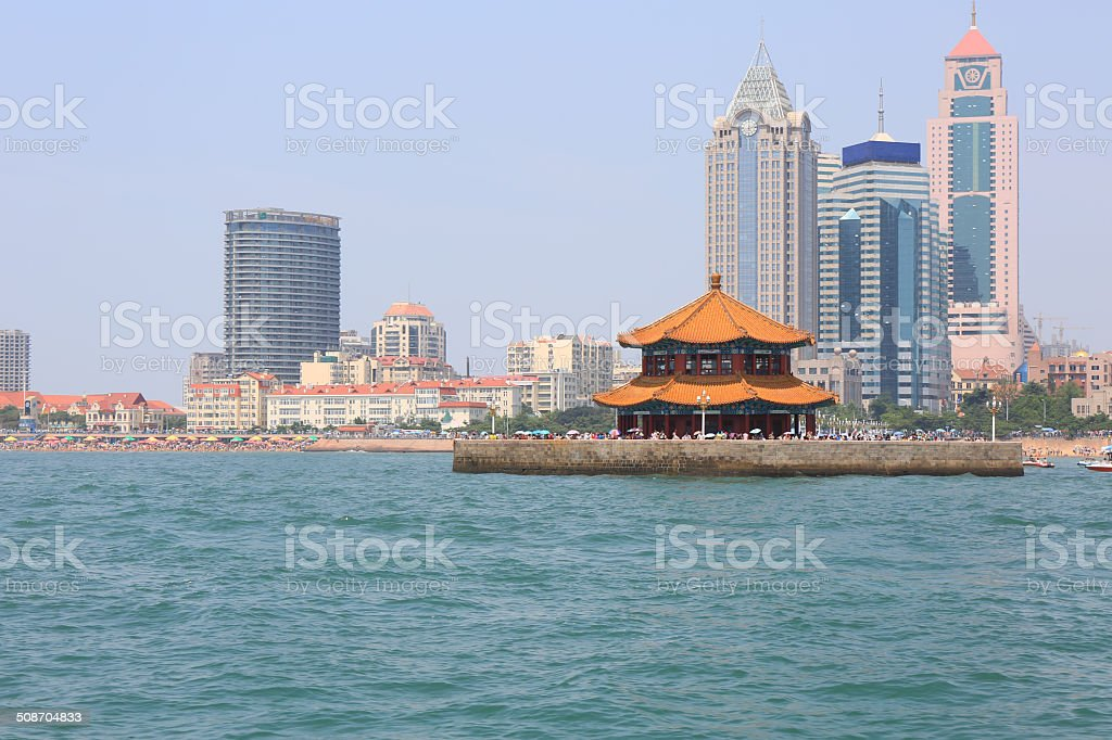 Seaside Chinese city, Qingdao stock photo