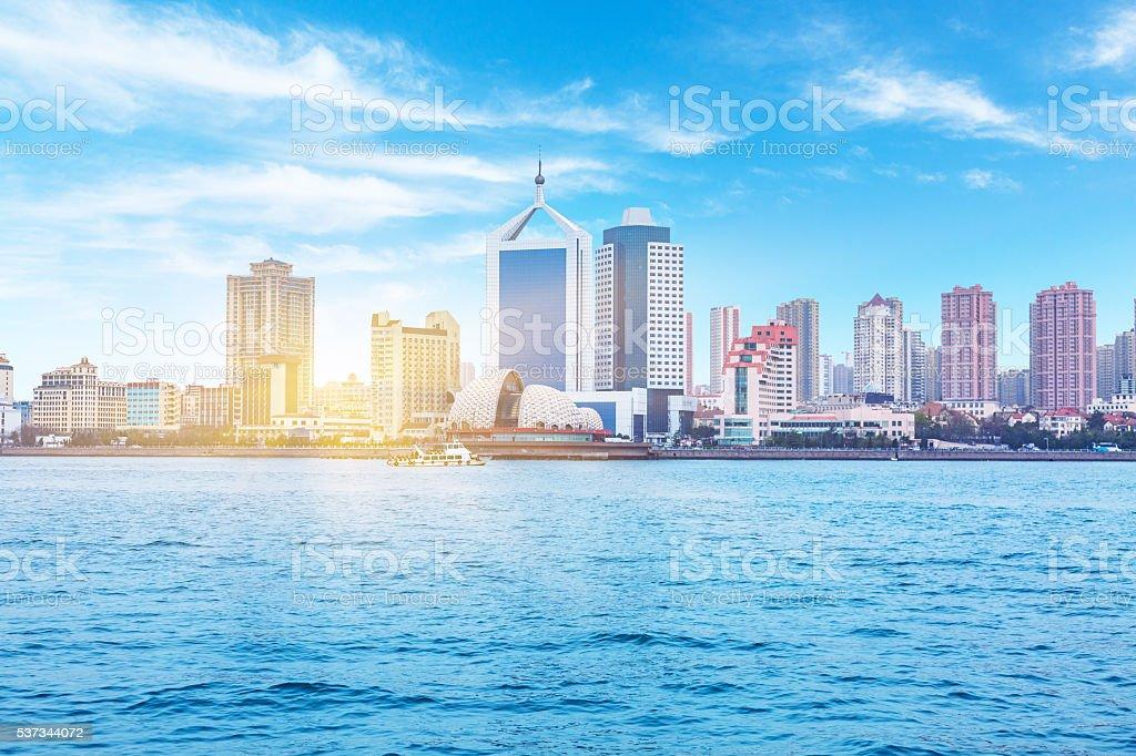 seaside city, qingdao stock photo