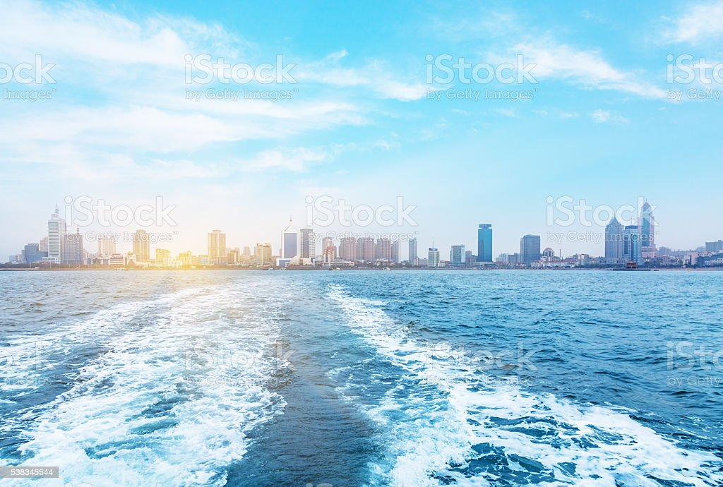 seaside city, qingdao stock photo