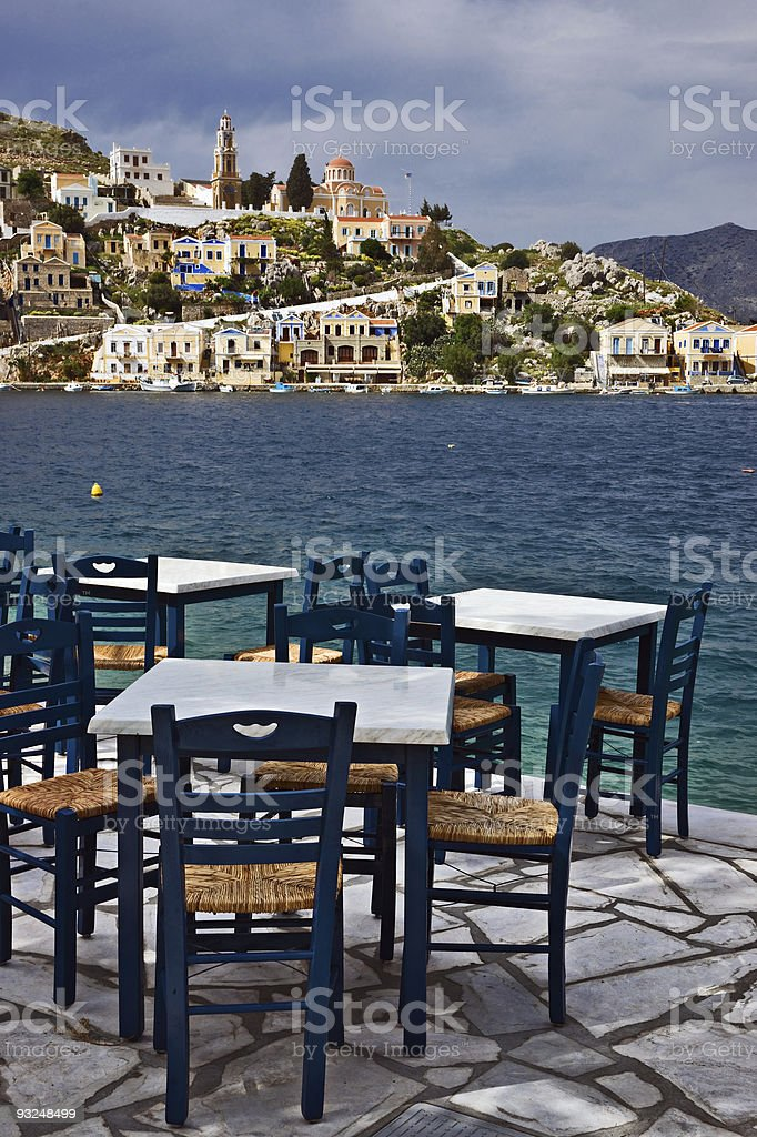 Seaside coffee-house royalty-free stock photo