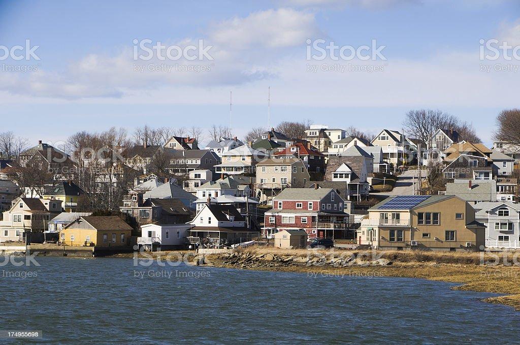 Seaside Community royalty-free stock photo