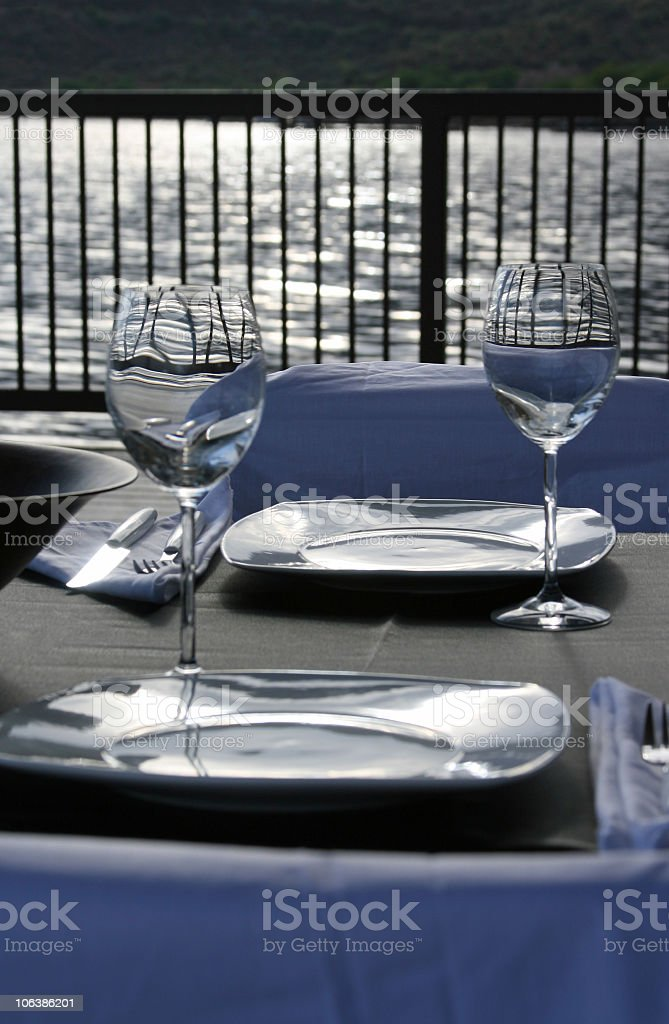 Seaside Dinner for Two royalty-free stock photo