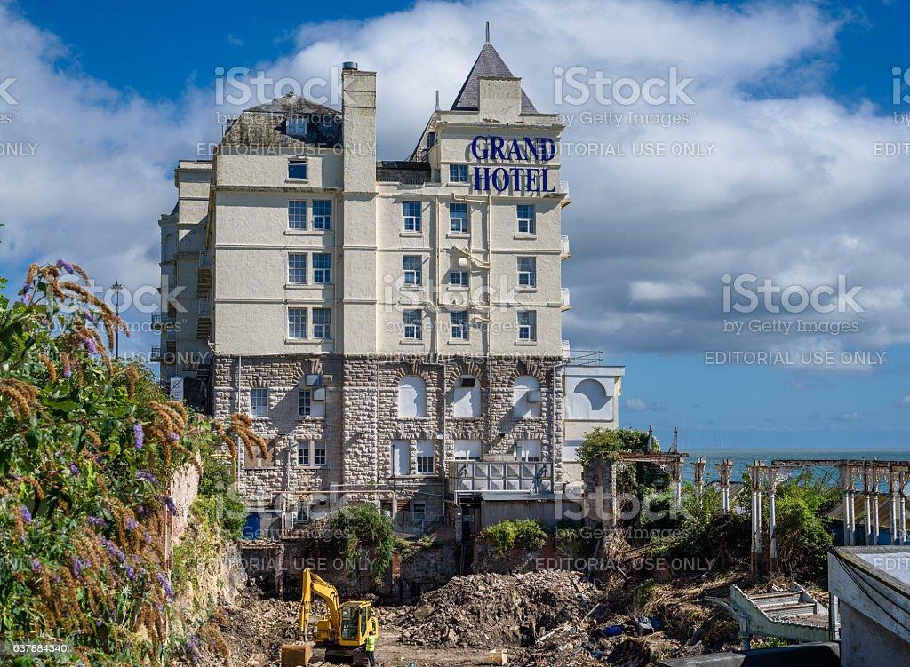 Seaside Hotel stock photo