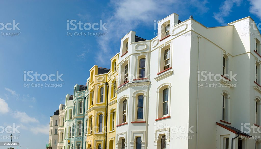 Seaside hotels and homes royalty-free stock photo