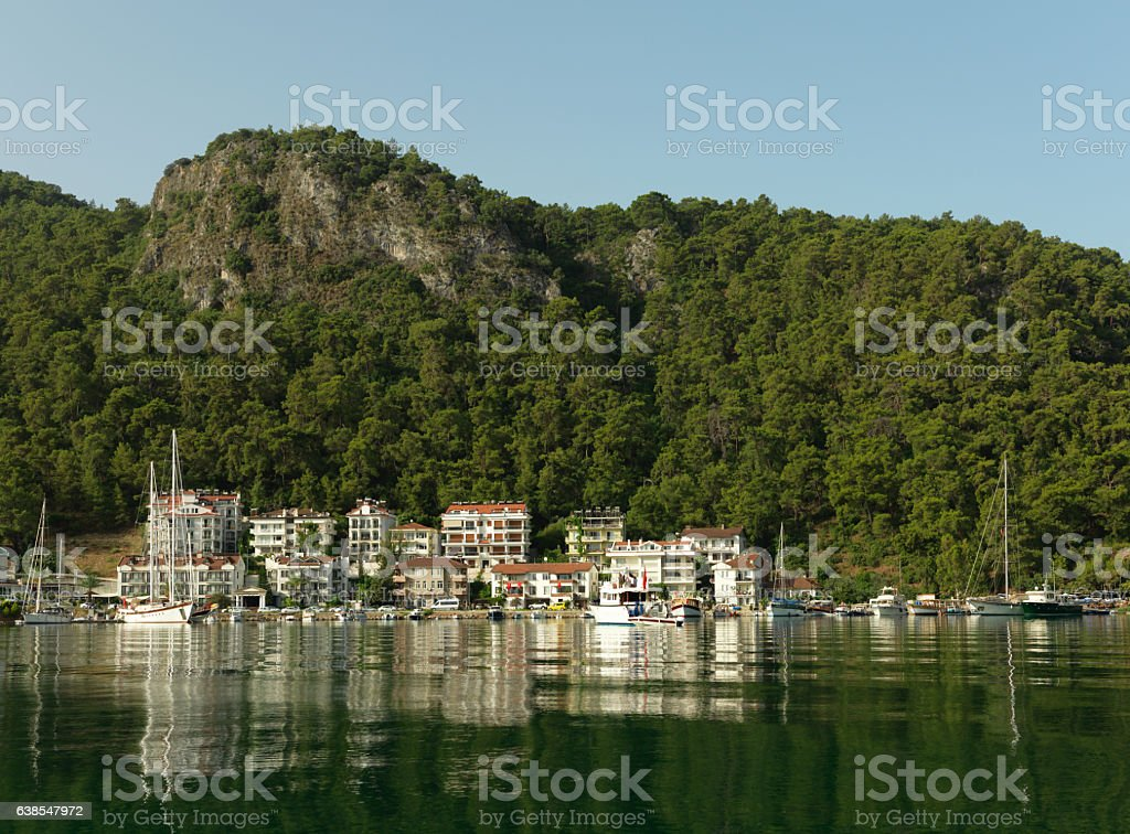 Seaside in Fethiye, Turkey stock photo