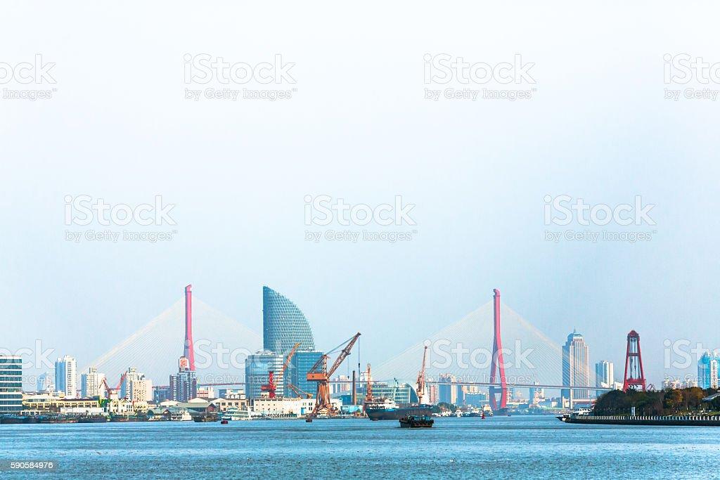 Seaside in Shanghai stock photo