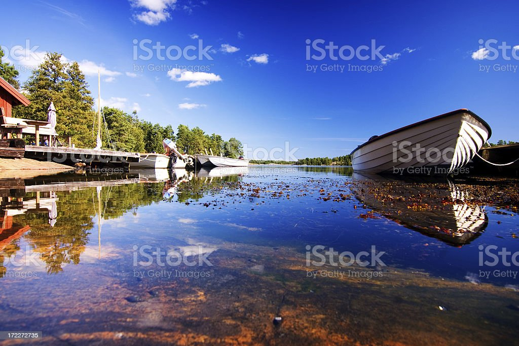 Seaside landscape by the ocean royalty-free stock photo