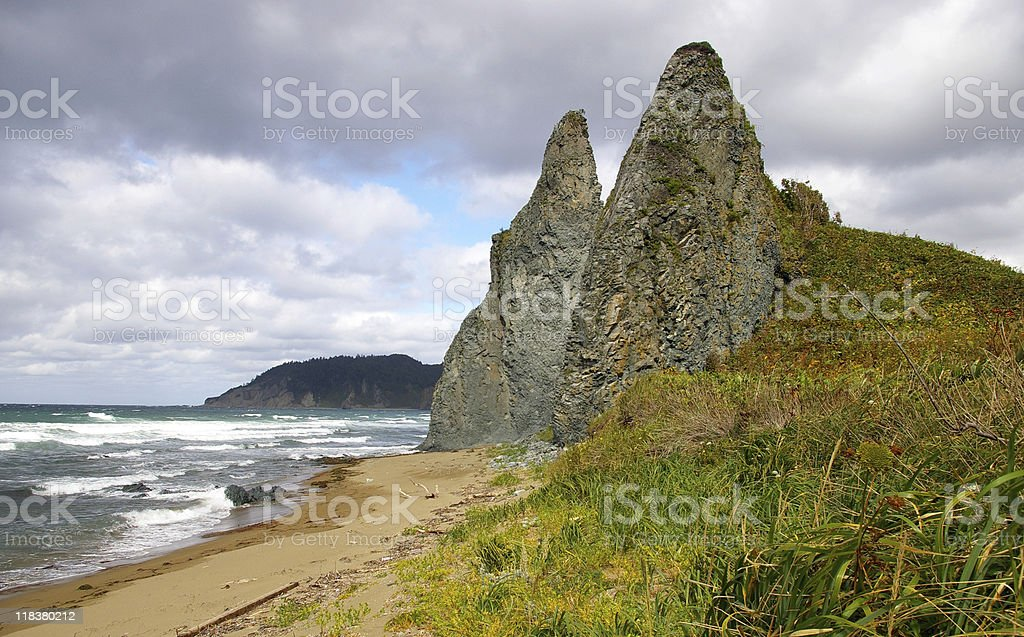 seaside of the island royalty-free stock photo