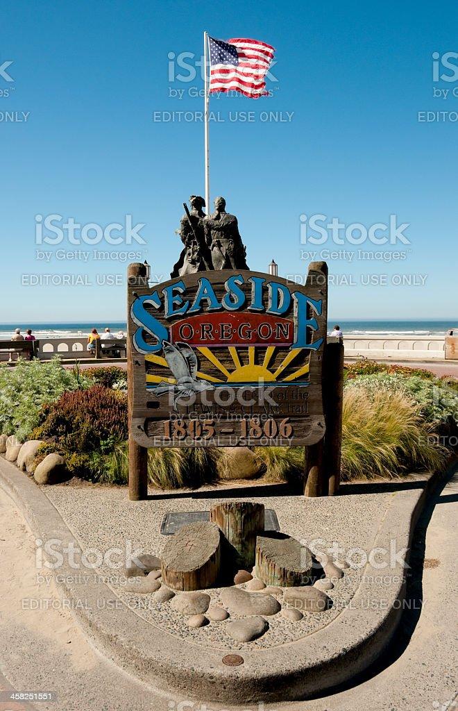 Seaside Oregon stock photo