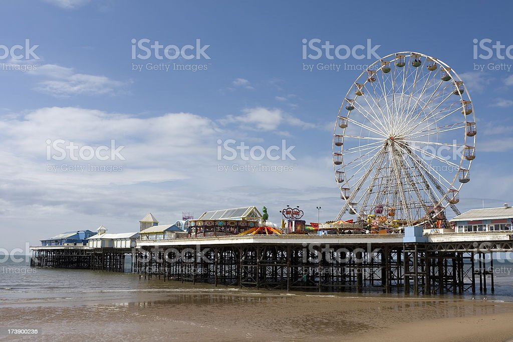 Seaside pier, Blackpool royalty-free stock photo