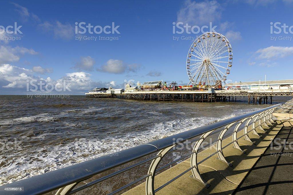 Seaside Pier, Blackpool stock photo