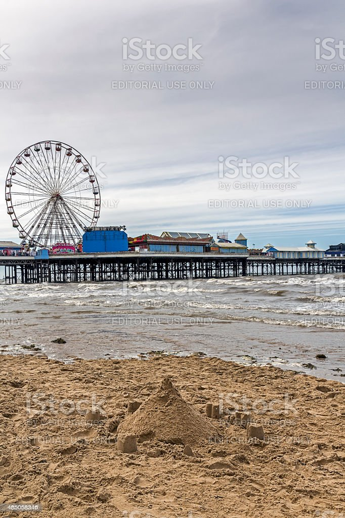 Seaside Pier Blackpool stock photo