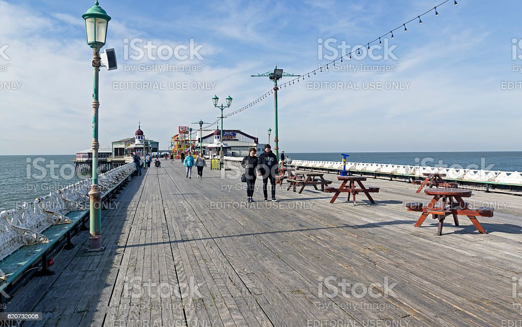 Seaside Pier, Blackpool stock photo