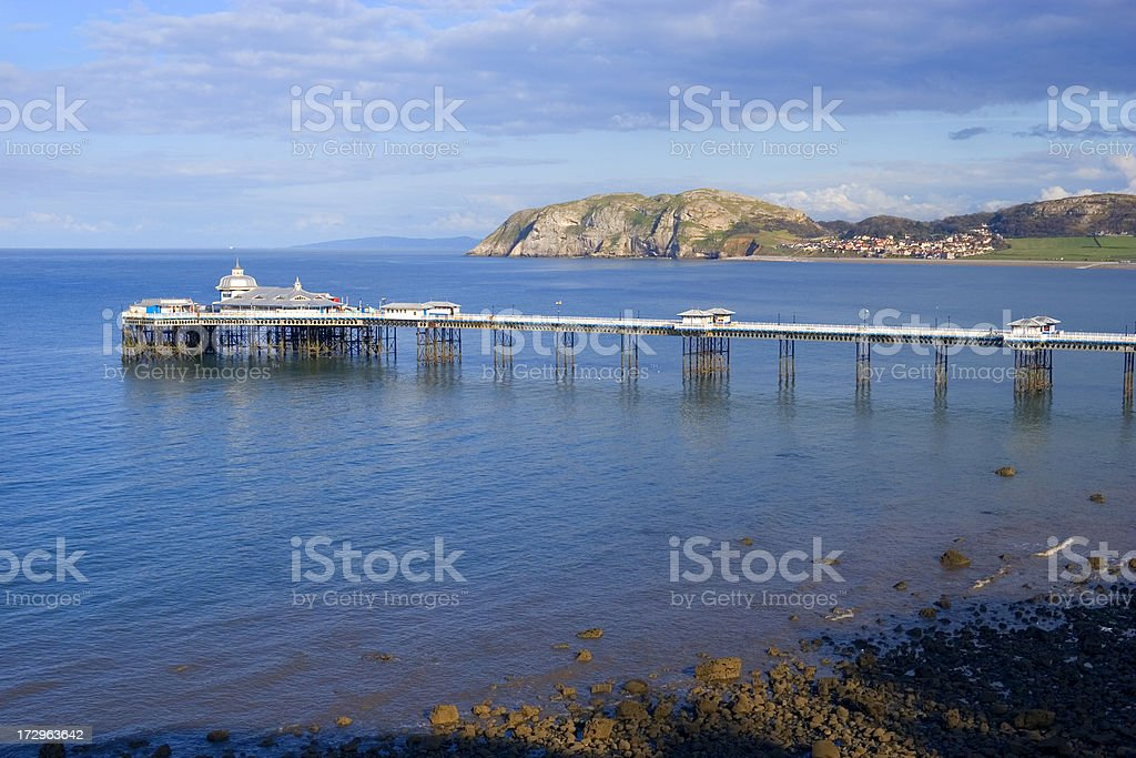 Seaside pier stock photo