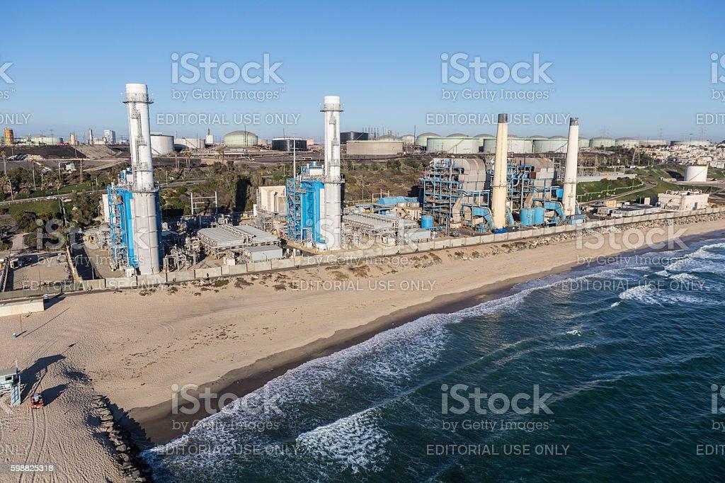 Seaside Power Generation Plant stock photo