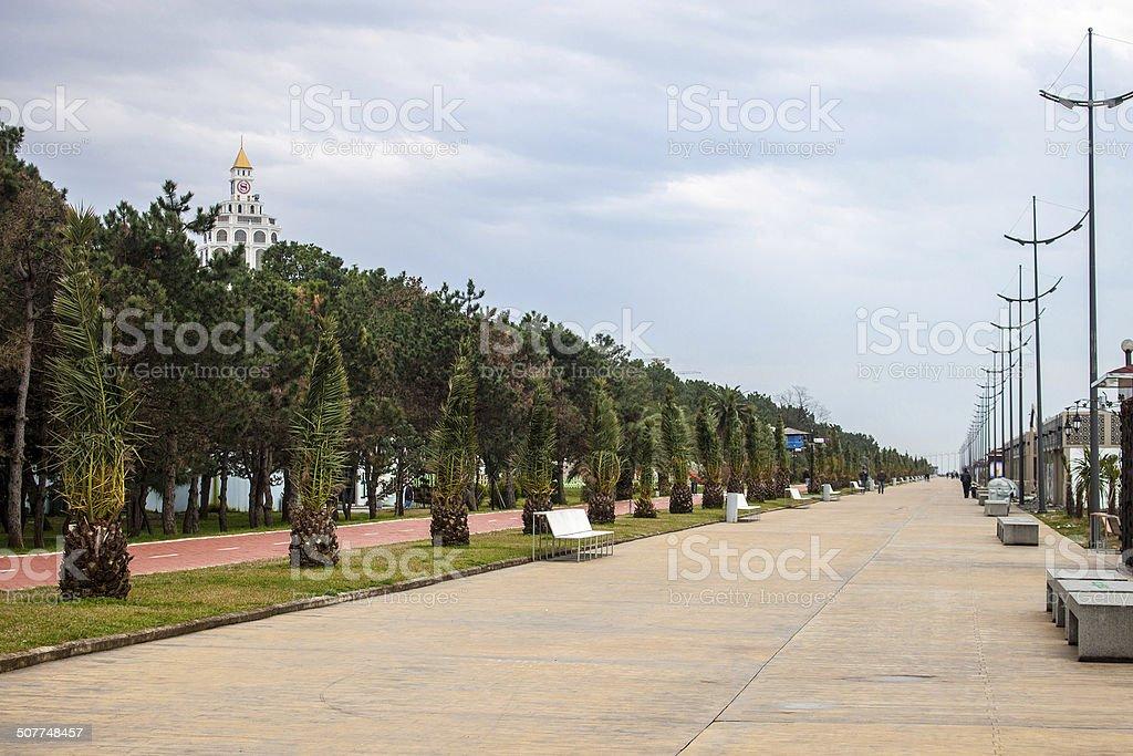 Seaside promenade in Batumi stock photo