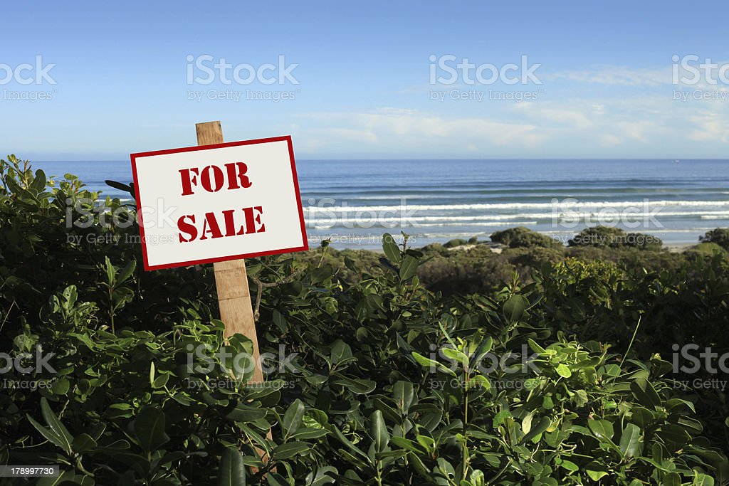 Seaside property for sale royalty-free stock photo