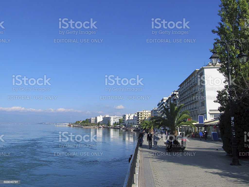 Seaside Provincial Town stock photo