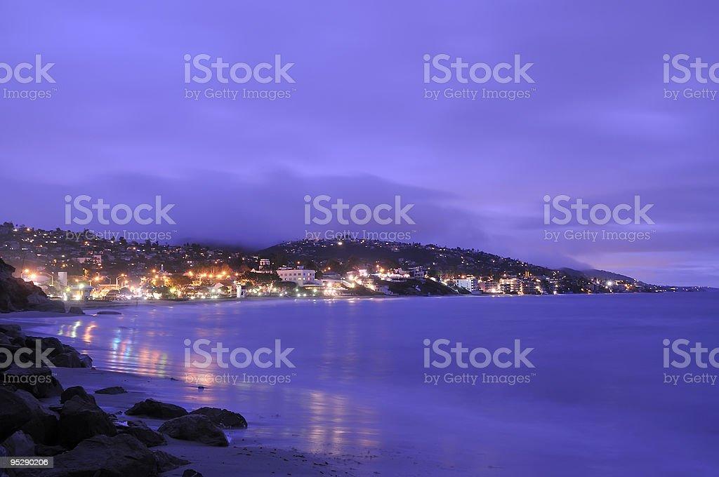 Seaside Resort at Sunrise stock photo