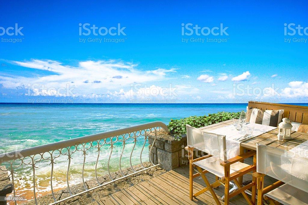 Seaside Restaurant stock photo