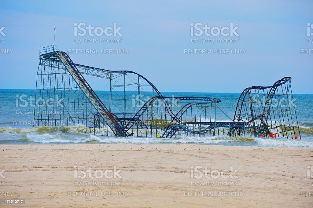 seaside roller coaster royalty-free stock photo