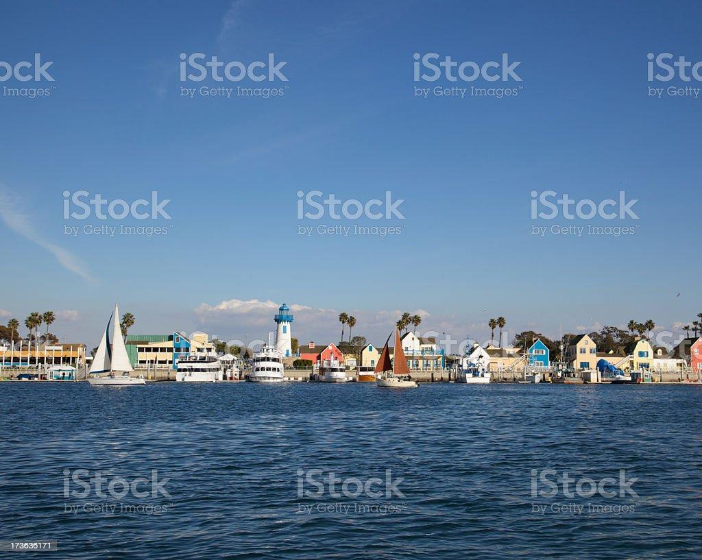 Seaside Sailing stock photo