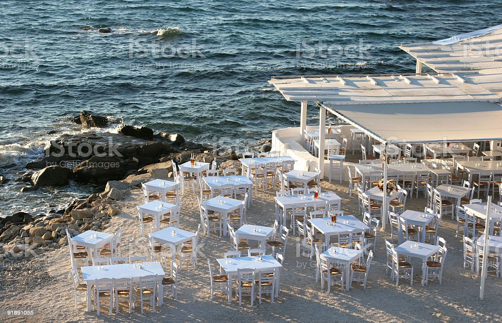 Seaside Setting stock photo