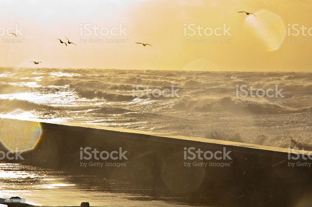 seaside storm 3 stock photo