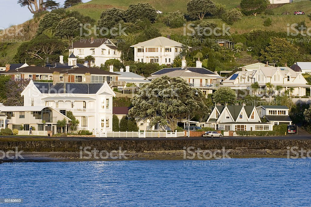 Seaside Suburb stock photo