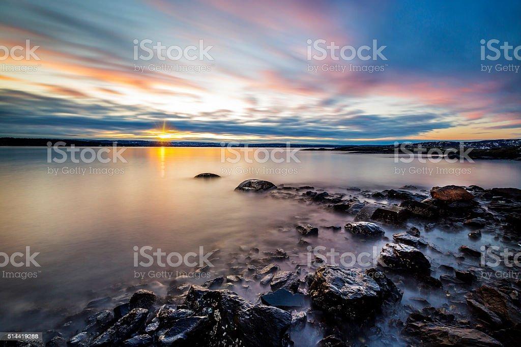 Seaside Sunrise stock photo